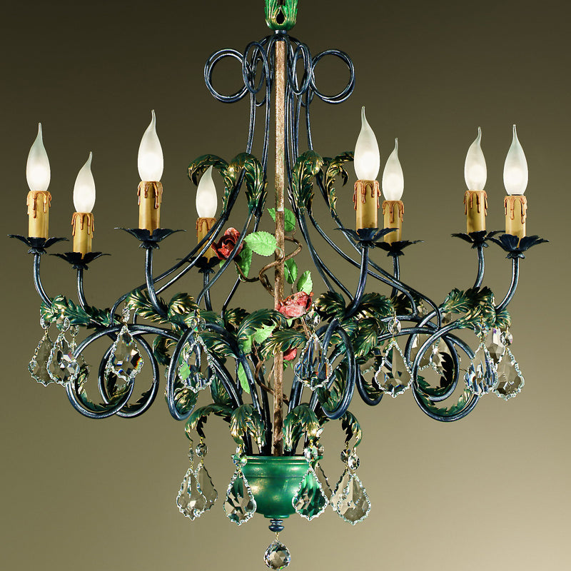 Black Iron 8 Arm Chandelier