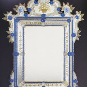 17th century baroque-style wall mirror with custom Murano glass