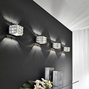 Modern wall light with Swarovski spheres