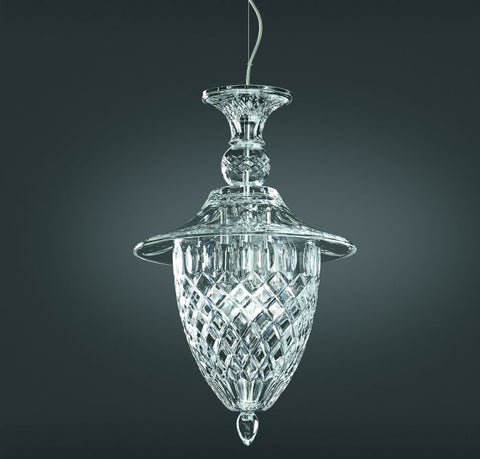 Classic clear Italian cut glass ceiling lantern
