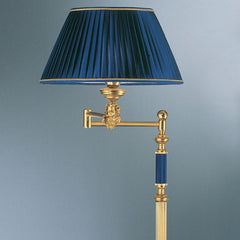 Classic floor light with blue enamel part and shade