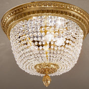 Bohemian Crystal Flush Ceiling Light