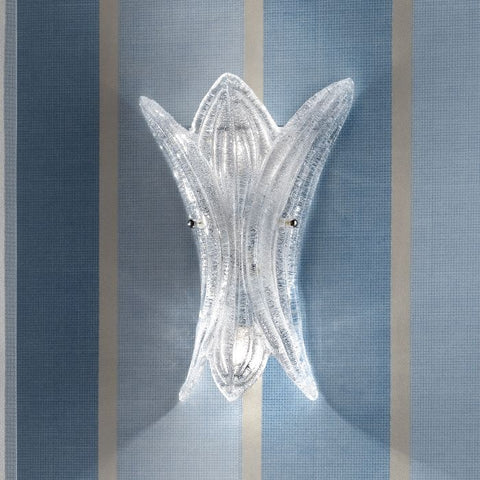 Graniglia crystal wall light, cast by hand in Italy