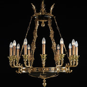 12 Light French gold Regency chandelier