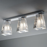 Vicky E03 lead crystal triple ceiling light from Fabbian