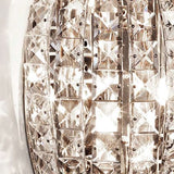 Modern Italian triple glass crystal pendant light