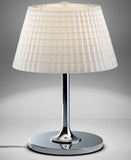 Large Flow D87 B03  white crystal table lamp from Fabbian
