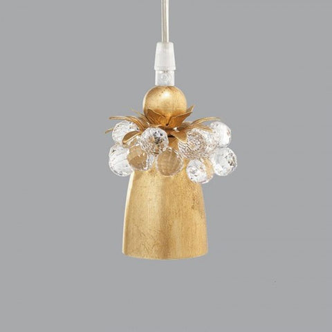 Gold Metal Suspended Spotlight with Swarovski Elements