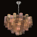 Coloured Murano modern mid century tronchi chandelier