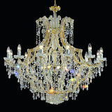 Gold Plated Chandelier with Crystal Glass Pendants