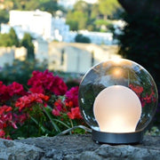 Designer LED globe lamp with custom finishes