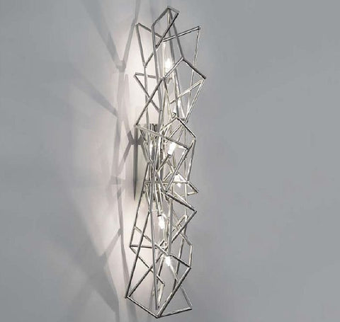 'Etoile' nickel plated wall light from Terzani