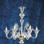 Classic clear Murano  glass chandelier in a range of colours