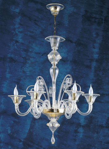 Murano crystal light with 25 carat gold venetian glass crystal classic clear murano glass chandelier in a range of colours aloadofball Gallery