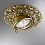 Traditional gold, brass, or chrome spot lights