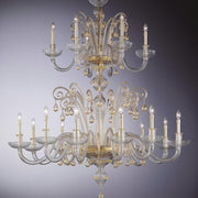 Large 28 light Murano chandelier