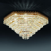 Hexagonal 24% lead crystal ceiling light