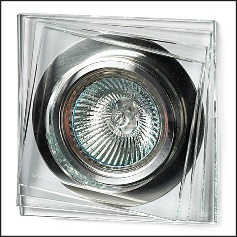 Clear glass recessed ceiling light