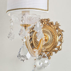 Asfour crystal chandelier wall light in the Maria Theresa style