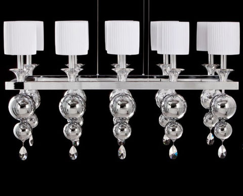 Modern Italian dining room chandelier with choice of finish