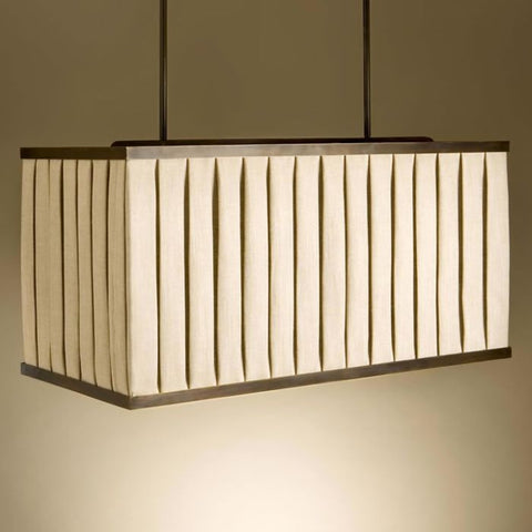 Rectangular bespoke fabric pendant light