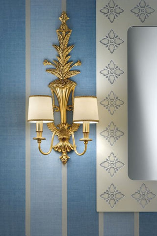 Solid Brass Double Wall Light
