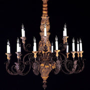 18 Light Luxury Autumn Wood Chandelier