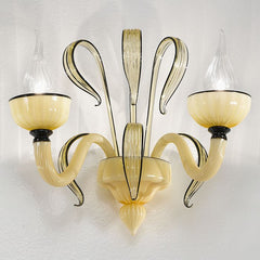 White Murano glass 'Epoque' wall chandelier