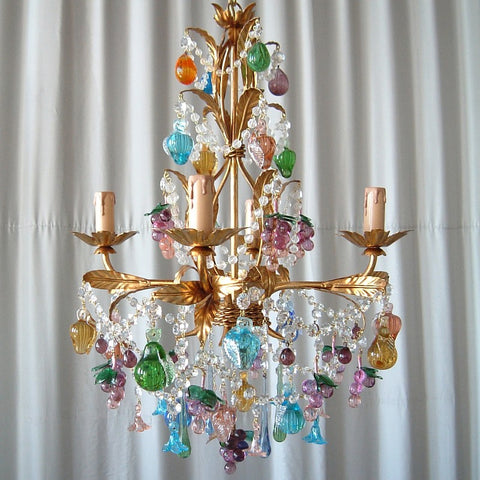 Venetian fruit chandeliers italian lighting centre murano fruit chandelier aloadofball Choice Image