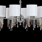Modern chrome or gold chandelier with Venetian crystals