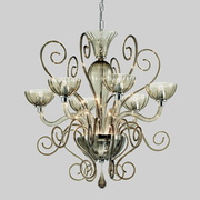 Bolero smoked glass 6 light chandelier from Leucos