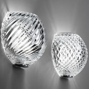 Swirl D82 lead crystal wall light from Fabbian