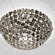 Orten'zia nickel or gold-plated ceiling light from Terzani
