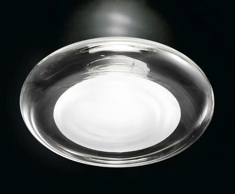 Keyra clear flush wall & ceiling light from Leucos