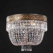 Small Crystal Glass Basket Chandelier