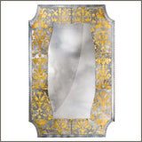 Unusual large Venetian glass mirror in the eglomise style