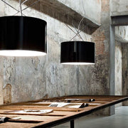 Ray steel & polycarbonate or glass ceiling light from Flos