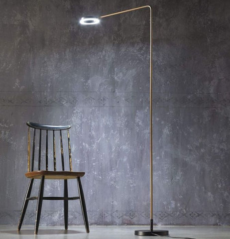 Italian brass floor lamp in the modern country style