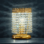 Beautiful 24 carat gold table light with crystal beads