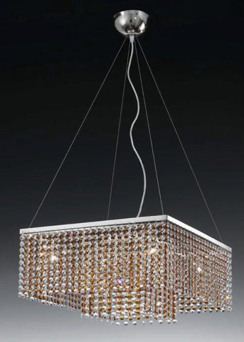 Square Crystal Ceiling Pendant