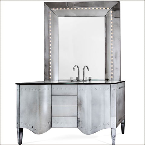 Illuminated Venetian mirror bathroom vanity unit