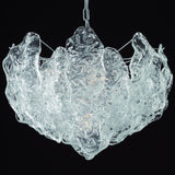 60 cm clear Murano glass ice chandelier
