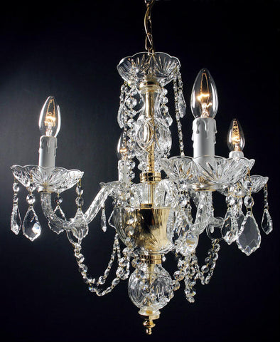 Pretty 4four light cut glass chandelier 24 lead crystal four light lead crystal chandelier featuring the leonardo system aloadofball Image collections