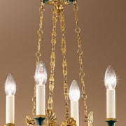 Antique French Gold Finish English-style Chandelier