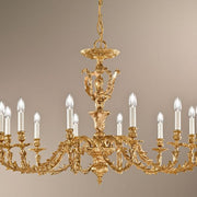 12 Arm Antique French Gold Chandelier