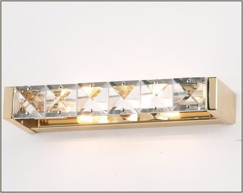 Modern gold or nickel wall light with Italian crystals