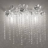 Cascading Crystal Glass Wall Light