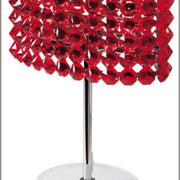 Red black or Swarovski crystal table lamp from Italy