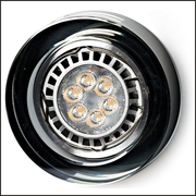 Round smoked glass recessed ceiling light