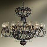 Wrought Iron 24 Armed Chandelier